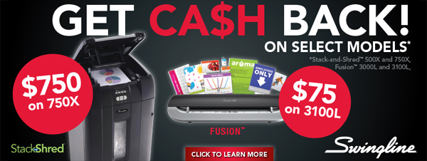 Get Cash Back Swingline Products Offer