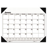 ** Workstation-Size One-Color Monthly Desk Pad Calendar, 18-1/2 x 13, 2013 **
