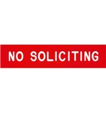Garvey Engraved Style Plastic Signs 098001 No Solicitors - Red