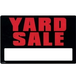 Garvey Printed Plastic Sign 098020 Garage/Yard Sale 2 Sided
