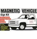 Garvey Sign 098027 Magnetic Vehicle Sign Kit