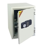 1.3 Cubic Ft Capacity Fireproof Safe with Two Locks Off White