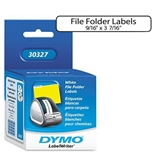 1-Up File Folder Labels for Label Printers, 3-7/16 x 9/16, White, 260 per Box
