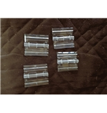 10 Pack Clear Acrylic Plexiglass Lucite Hinge