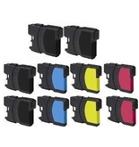 10 Pack Of Non-OEM LC61 Ink Cartridges -Cyan/Magenta/Yellow