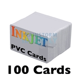 100 Blank Inkjet PVC ID Cards, Double Sided Printing