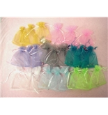 100 Pcs Organza Drawstring Pouches Gift Bags Assorted Colors 3x4 Inches