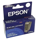 10pk - Remanufactured Epson T015 Black Ink Cartridge T015201; Epson Stylus photo 2000p