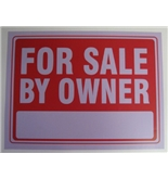 12- x 16- For Sale By Owner Sign