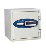 2.06 Cubic Ft Capacity Fireproof Safe with Finger Print Lock Off White Paint
