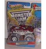 2012 HOT WHEELS 1:64 SCALE EXCLUSIVE HOLIDAY TASMANIAN DEVIL MONSTER JAM TRUCK WITH SNOW COVERED TIRES
