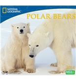 2014 National Geographic Polar Bears Deluxe Wall Calendar