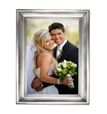 Lawrence Frames Brushed Pewter 4 by 6 Metal Picture Frame