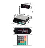 Digital Electronic Scale Grocery Price Weight 60 Pound