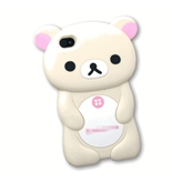 3D white Rilakkuma Bear Hard Case Cover for iPhone 4 4S 4G