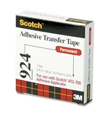 3M 924-3/4 Adhesive Transfer Tape Roll for Scotch Tape Gun, 3/4 Wide x36 Yards