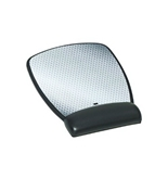 3M Compact Mouse Pad with Gel Wrist Rest, Black Leatherette, Antimicrobial Product Protection (MW309LE)