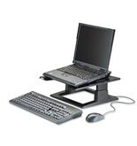 3M : Notebook Riser w/Adjustable Height, 13w x 13d x 3 1/4 - 5 3/4h, Charcoal Gray - Sold as 2 Packs