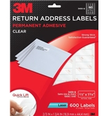 3M Return Address Labels With Quick Lift Design for Laser Printers, Clear, 2/3 x 1 3/4 Inches, 10 Sheet
