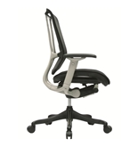 Nefil 4000FMBLK Office Chair in Black Mesh Back and Black Fabric Seat with Grey Frame