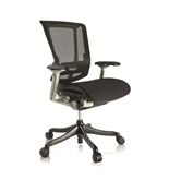 Nefil 4000MEBLK Office Chair in Black Mesh and Grey Frame