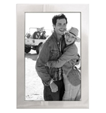 Malden International Designs Essentials Silver Metal 4 x 6- Engravable Picture Frame