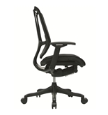 Nefil 4100FBLK Office Chair in Black Fabric and Black Frame