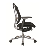 Nefil 4200FBLK Office Chair in Black Fabric and Aluminum Frame