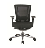 Nefil 4300MEBLK3D Office Chair in 3D Black Mesh and Aluminum Frame