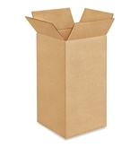 "6"" x 6"" x 12"" Tall Corrugated Boxes (Bundle of 25)"