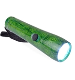 Halo Aluminum 9-led Flashlight (Green Paisley Pattern)