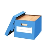 Bankers Box FEL6110402 Stor/File Decorative Storage Box Letter/Legal Cornflower Blue 4/Carton, Cornflower Blue