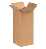 "8"" x 8"" x 18"" Tall Corrugated Boxes (Bundle of 25)"