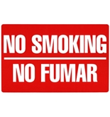 Garvey Printed Plastic Sign 098068 Sign No Smoking/No Fumar