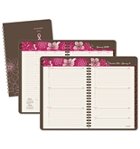 AT-A-GLANCE - Sorbet Weekly/Monthly Planner, 4-7/8 x 8, Brown, 2015