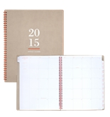 AT-A-GLANCE Weekly and Monthly Planner 2015, Wirebound, 8.5 x 11 Inch Page Size, Neutral/Orange