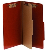 ACCO 15006 ACCO Presstex 20-Point Classification Folders, Letter, 6-Section, Red, 10/Box