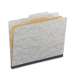 ACCO 15014 ACCO Presstex 20-Point Classification Folders, Letter, 4-Section, Gray, 10/Box