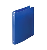 Acco AccoHide Round Ring Binder, 8.5 x 11 Inches, 1 Inch Capacity, Semi-Rigid Cover, Blue (A7039713A)