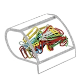 Kantek AD-40 Paper Clip Holder, Acrylic - Clear