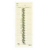 Adams Time Cards, Named Day Format Time Card, 3.4 x 9 Inches, Manila, 1-Sided, 200 Count (9659-200)