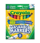 8 ct. Crayola Broad Line Washable Markers (Pack of 6)