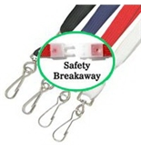 Akiles White 35- Flat Breakaway Lanyards w/Swivel Hook (100 Pcs)