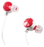 Altec Lansing Bliss Earphones for iPhone - MZX236 Red/White