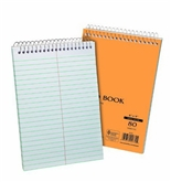 Ampad 40102R Evidence Recycled Steno Book, Gregg Rule, 6x9, White, 80 Sheets