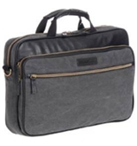 Eddie Bauer EBCANSLIM16-BLK-000 16 in. Slim Laptop Case, Black