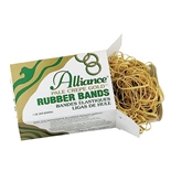 Alliance Pale Crepe Gold Size #12 (1 3/4 x 1/16 Inches) Premium Rubber Band, - 20125