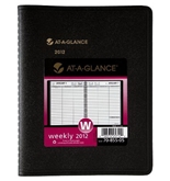 AT-A-GLANCE Recycled Weekly Planner, 6 x 9 Inches, Black, 2012 (70-855-05)
