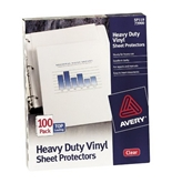 Avery 73900 Top Loading Vinyl Sheet Protectors, Heavy Gauge, Clear, 100 per Box