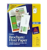 Avery 8324 Inkjet Matte Texture Brochure/Flyer Paper, White, 8-1/2x11, 100 Sheets per box